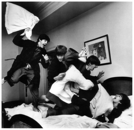 Beatles Pillow Fight, by Harry Benson