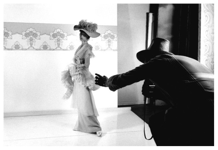 Cecil Beaton photograhing Audrey Hepburn for My Fair Lady
