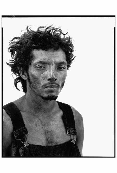 Roberto Lopez, Oil Field Worker, Lyons, Texas 1980 Richard Avedon