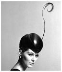 Pillbox hat with feather by John French (1960s)