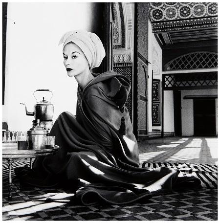 Woman in Palace, Marrakech, Morocco (Lisa Fonssagrives-Penn), 1951