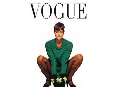 Yasmeen Ghauri – Vogue it oct – 1991 © Walter Chin
