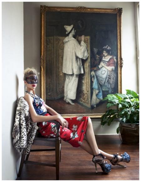 Vogue España April 2010 Keke Lindgard by Arthur Elgort e
