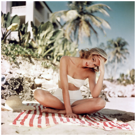Grace Kelly Photographed by Howell Conant in Montego Bay, Jamaica, 1955