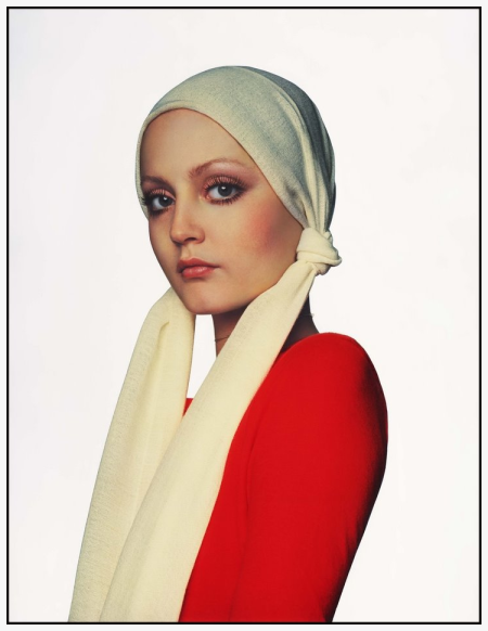 Ingrid Boulting, Red Jumper 1974, photo by Gian Paolo Barbieri