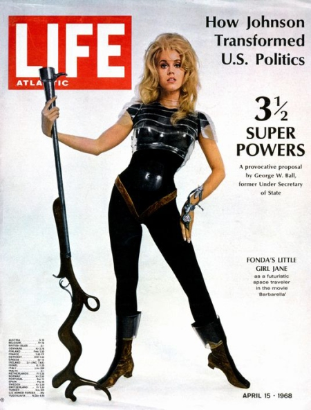 TEARSHEET. Life Atlantic Magazine. Jane Fonda, Barbarella. April 15 1968.