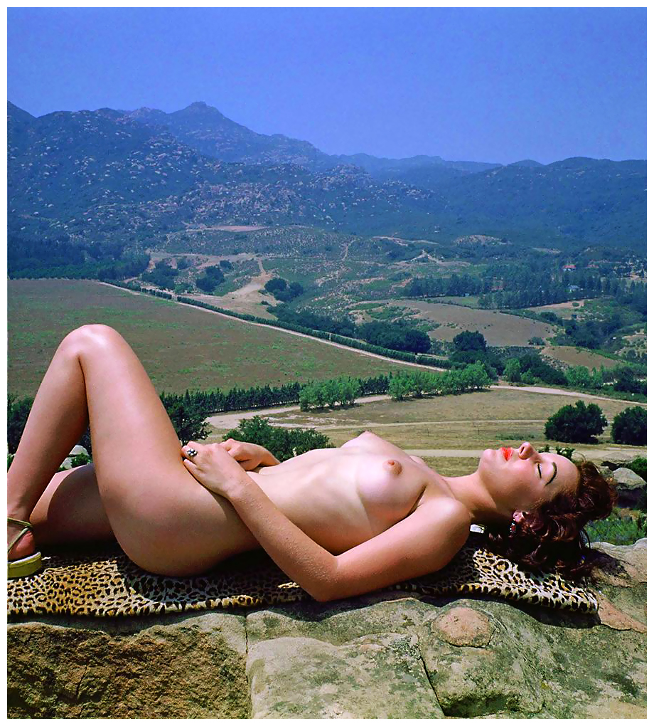 Nude On Leopard Skin By Actor Producer Harold Lloyd C