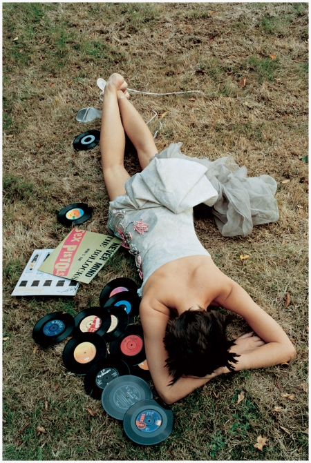 Rosemary Ferguson posed as a worse for wear music fan in The Morning After The Year Before shoot of January 2002