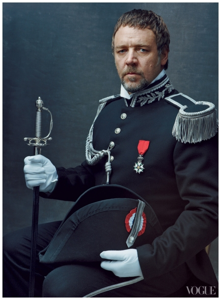 Russell Crowe Les Miserables Promo Pic Annie Leibovitz for Vogue