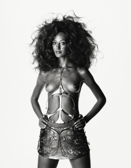 Ungaro Bride Body Sculpture (Marisa Berenson), Paris, 1969 b