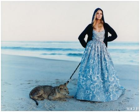 Caroline Trentini Photographed by Arthur Elgort, Vogue, Dec 2006