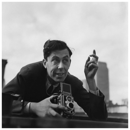 Conde Nast photographer Constantin Joffe shooting on a rooftop - Donald Honeyman 1942