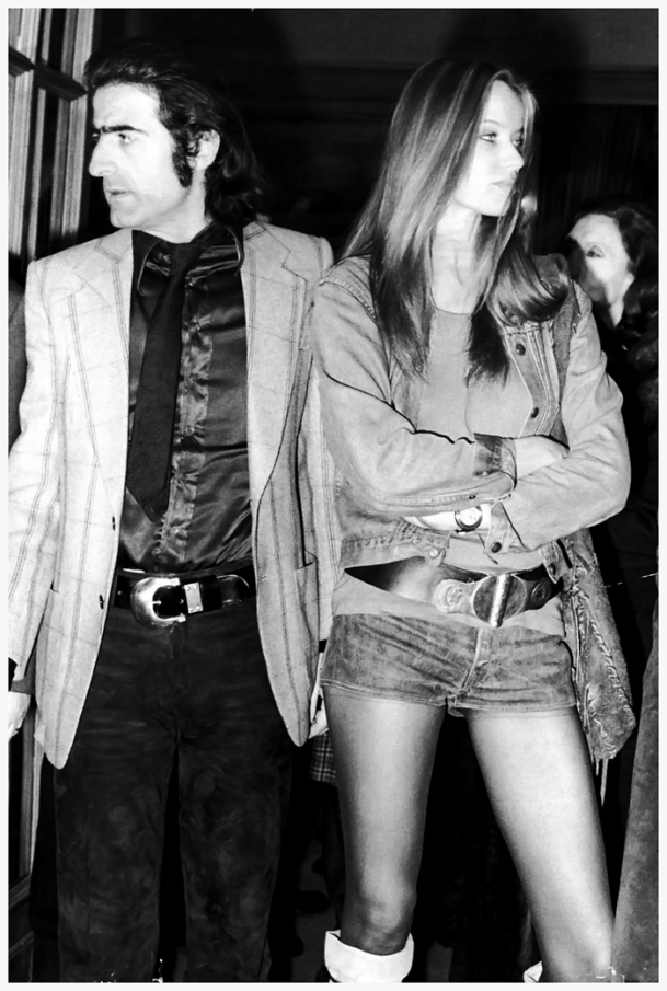 Italian director and photographer Franco Rubartelli and German countess and fashion model Veruschka look away from each other at the premiere of their film 'Veruschka, Poetry of a Woman, Rome, April 1971