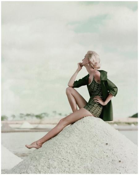 Daydreamer in Green Swimsuit