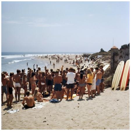 Photo LeRoy Grannis Beach Hair Cut, Malibu, 1967