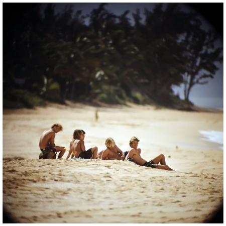 Photo LeRoy Grannis Watching Surfers, Sunset Beach, 1967