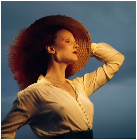 Grace Coddington Grace in straw hat, 1973