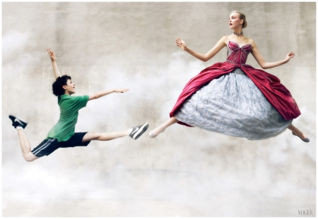 Vogue, September 2008 Trent Kowalik, an actor from Broadway's Billy Elliot, dances with Caroline Trentini
