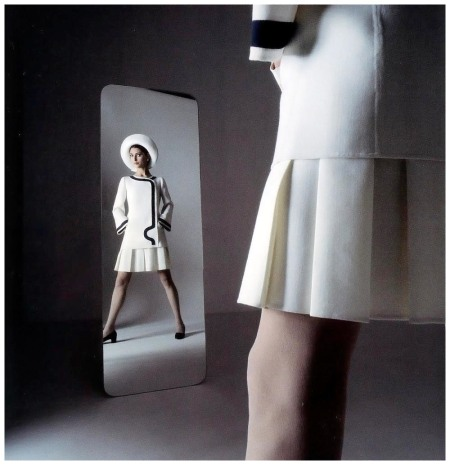 Benedetta Barzini in suit by Mila Schön, photo by Ugo Mulas, Spring:Summer 1969, Mila
