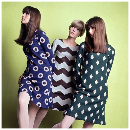 Dresses by Betsey Johnson for Paraphernalia and opaque tights by Solar, 1966 Dave McCabe