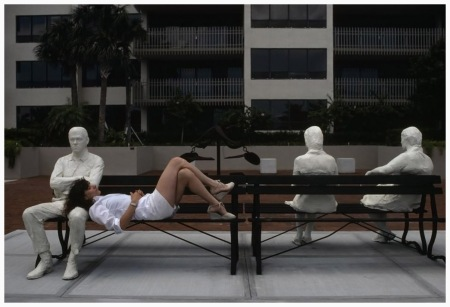 Florida. Coral Gables. George Segal sculpture. 1981