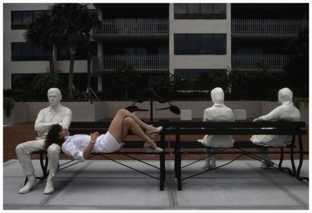 Florida. Coral Gables. George Segal sculpture. 1981