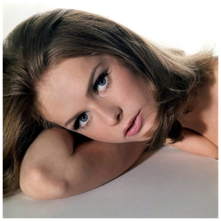Headshot of model Agneta Frieberg, photo by Sante Forlano, September 1965