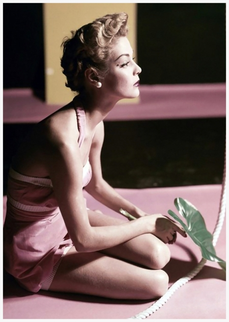 Horst P.Horst, Jean Patchett in oink velvet bathing suit, Vogue, 1951 © Condé Nast Archive:Corbis