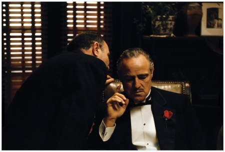 Photo Steve Shapiro The Whisper, Marlon Brando in %22The Godfather%22, New York, 1971
