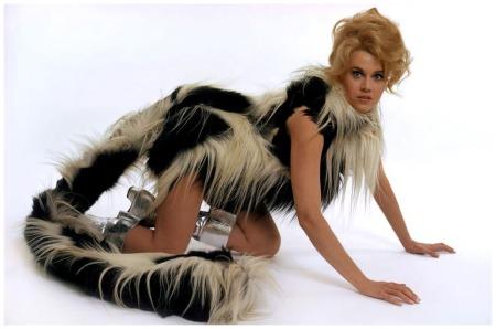 Rome. Jane Fonda who starred in %22Barbarella.%22 September 1967 Guy Le Querrec