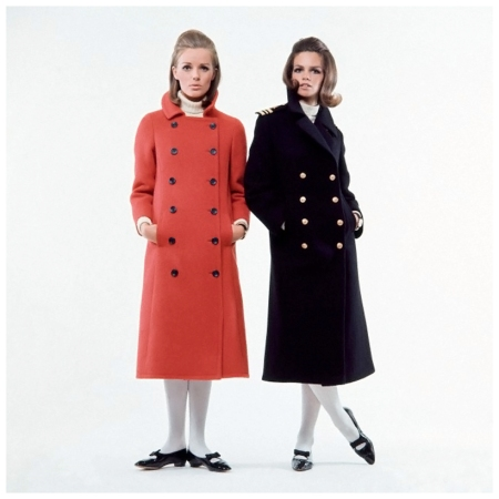 Women in peacoats