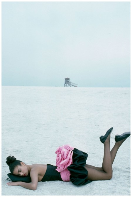 Veronica Webb 1987 Miami Dress by Emanuel Ungaro