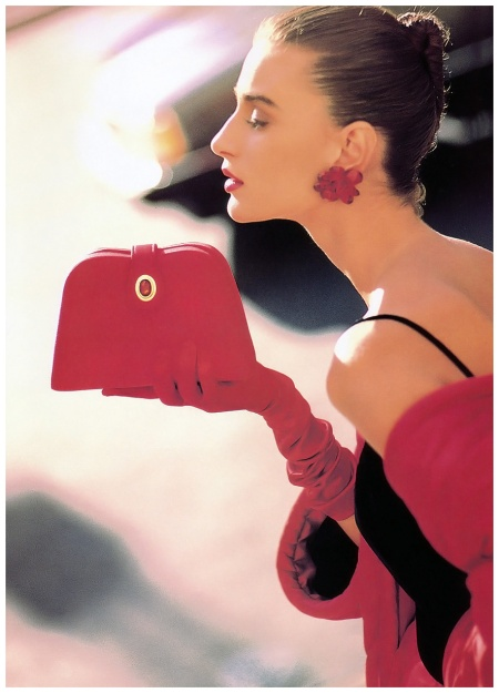 Vogue Sept 1988 Aly Dunne - Photo Anne Klein ads b