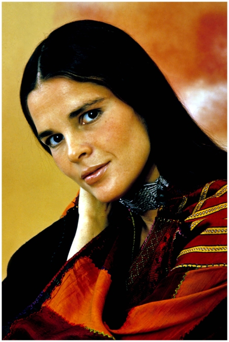 Ali MacGraw – The stand-out hairstyle of 1970, Ali MacGraw's sleek dark hair and centre parting in Love Story was the only style to covet