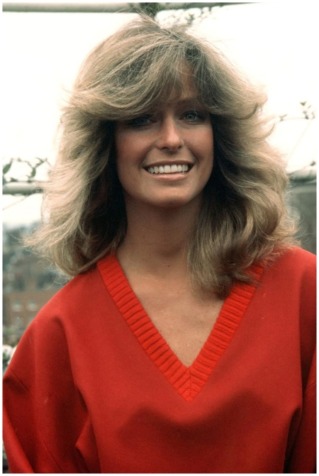 Farrah Fawcett – The Charlie's Angels star's feathered flicks led to one of the Seventies' biggest hair trends 1978
