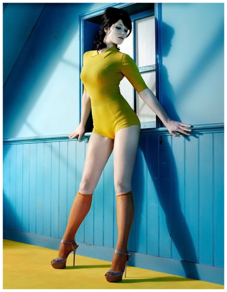 Gemma Arterton photo by Miles Aldridge, GQ UK, April 2010