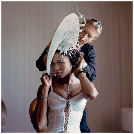 Naomi Campbell, Royal Ascot, 6 June 2002 From Philip Treacy by Kevin Davies