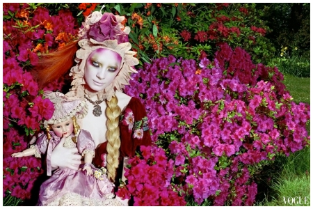 Photo by Miles Aldridge Blooming Beauty in Vogue, novembre 2007