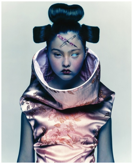 Devon Aoki wearing Alexander McQueen S:S 97 shot by Nick Knight for Visionaire Comme des Garçons issue 1997