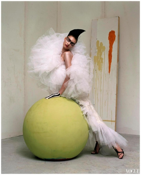Eugenia Volodina by Steven Meisel Vogue Italia March 2003