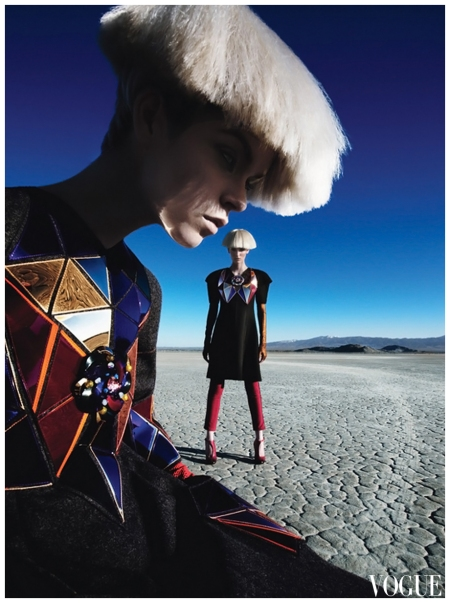 Fierce Creatures - by Patrick Demarchelier - W August 2012 Meghan Collison, Zuzanna Bijoch b