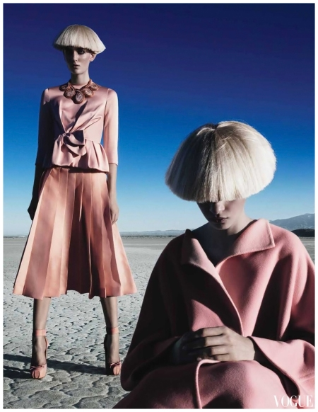 Fierce Creatures - by Patrick Demarchelier - W August 2012 Meghan Collison, Zuzanna Bijoch