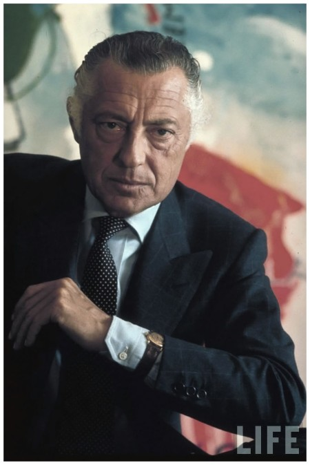Italian Industry Pres. of Fiat Gianni Agnell 1968 David Lees