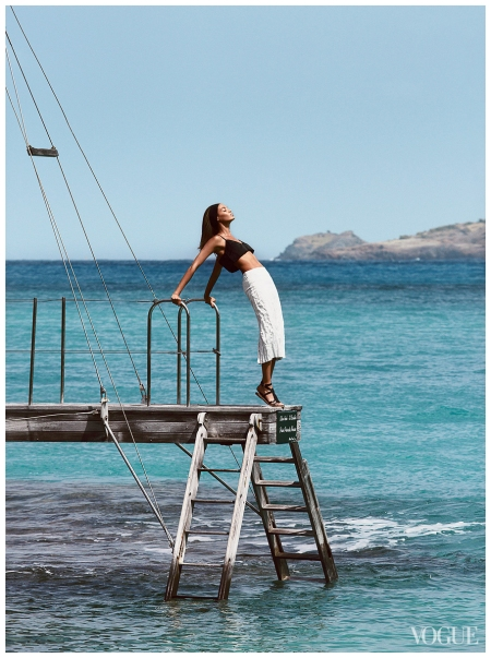 Joan Small Photographed by Patrick Demarchelier in St.Barth