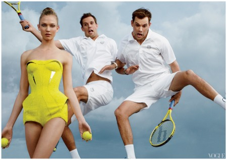 Karlie Kloss Teams Up with America's Top Male Olympians Bryan Brothers Tennis
