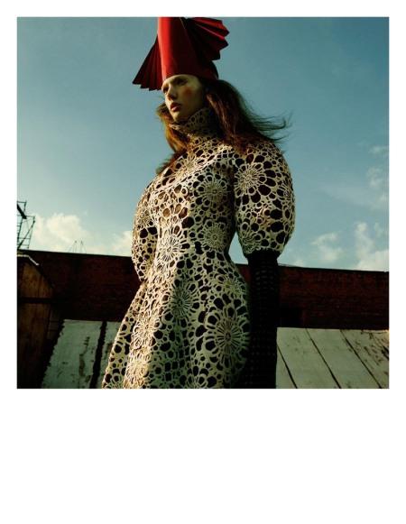 Kendra Spears Puts on Her Armor for i-D's Winter Issue, Lensed by Greg Kadel b