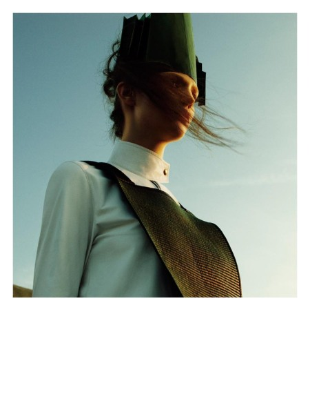 Kendra Spears Puts on Her Armor for i-D's Winter Issue, Lensed by Greg Kadel c