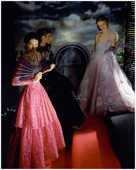 Model Wearing Evening Gowns Belles of the ball, Photo Horst P. Horst in 1942