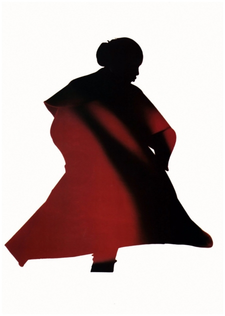 Naomi Campbell in Yohji Yamamoto, photographed by Nick Knight, 1986