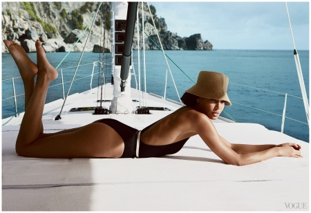 Smooth Sailing Joan Smalls Rides the Wave in St. Barth's